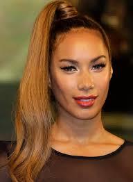 leona lewis s sophisticated uber high ponytail