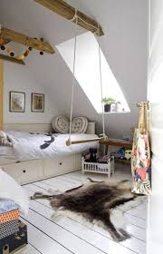 Kids Room: Wood Kids Swing For Room Divider - Indoor Swing