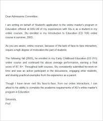 Letter of Re mendation for Master Degree