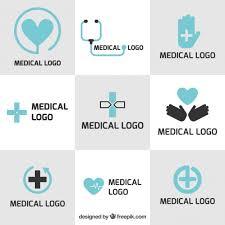 medical logos design medical logo templates in flat design vector free download