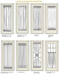 window treatment for patio door french door curtain