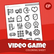Video Game Coloring Sheet Printable Pdf By Creative Printables