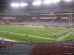 Cardinals Stadium Seating Chart Arizona State Farm Stadium Section 124 Arizona Cardinals