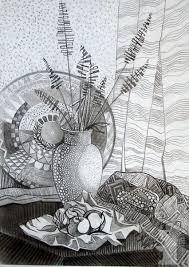 Декоративный натюрморт Детская художественная школа   Декоративный натюрморт Мержеевская