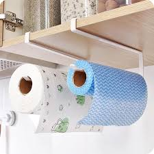 Bathroom Toilet Metal Paper Towel Holder Roll Reserve Paper Shelf Hanging  Rack Q