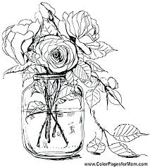Printable Flower Coloring Pages Pdf Flowers Coloring Pages