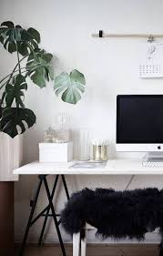 White office decors Feminine Home Office And Plants White Office Decor Office In Bedroom Ideas Home Office White Pinterest 37 Stylish Minimalist Home Office Designs Youll Ever See Home