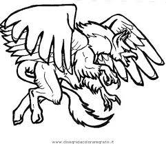 Disegno Grifone5 Categoria Fantasia Da Colorare