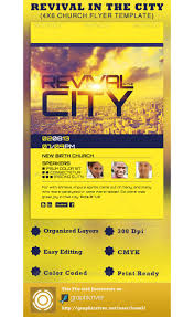 revival flyers templates revival in the city church flyer template psdbucket com
