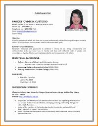 8 Example Of A Curriculum Vitae For Job Application Defaulttricks Com