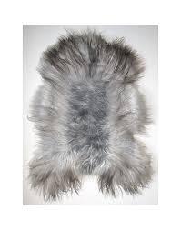 grey icelandic sheepskin rug 0124