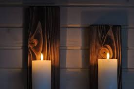 rustic wall sconces or candle holders