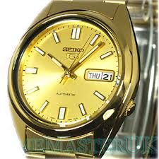 5 mens automatic gold tone face gold tone stainless steel watch seiko 5 mens automatic gold tone face gold tone stainless steel watch snxs80k1
