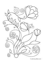 Spring Flowers Coloring Pages For Kids Printable Free Parenting