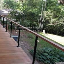 steel cable railing. High Quality Customized Stainless Steel Cable Railing For Balcony
