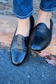 chanel loafers. chanel tuxedo loafers - probably for men, but i would totally wear these with no socks, of course. a
