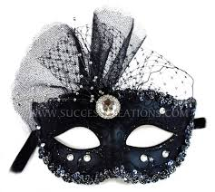 Decorating A Masquerade Mask Decorated Glittered Masquerade Mask for Women 2