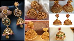 Gold Jhumka Design Images Latest Gold Antique Jhumka Designs Simple Craft Ideas