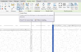 Segmentation of Precast Walls in Revit BIM and Beam