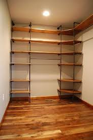 DIY closet organizer from pipes and pine shelveswant Closets