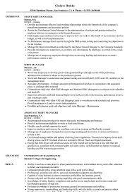 Shift Manager Resume Samples Velvet Jobs