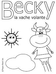 Bricolage Enfant Coloriage Vache