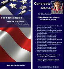 Political Print Templates Red White And Blue Theme Word