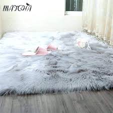 blush pink faux fur rug faux fur rug caramel white faux sheepskin rug long faux fur