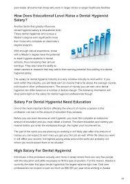 Rdhygienist Com Dental Hygienist Salary Guide