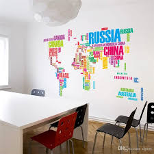 creative office wall art. Beautiful Office Diy Office Wall Art Colorful Letters World Map Stickers Living Room  Home Decorations Creative Pvc Decal Mural Decals From  For S
