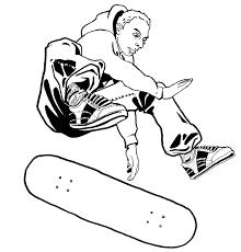 Dessin De Skateur A Imprimer L