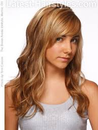easy long hairstyle with highlights