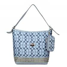 Coach Legacy Duffle In Stud Signature Medium Grey Shoulder Bags 51554