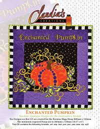 Machine Applique Designs Enchanted Pumpkin Embroidered Wall Hanging Project By