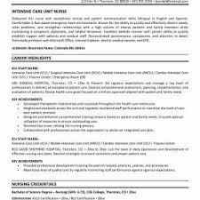 Sample Nursing Resumes Best Registered Nurse Resume Sample Format ...