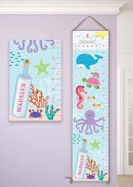 Under The Sea Birthday Chart Under The Sea Growth Chart Under The Sea Nursery Under The Sea Art Under The Sea Decals Under The Sea Birthday Gc4002a