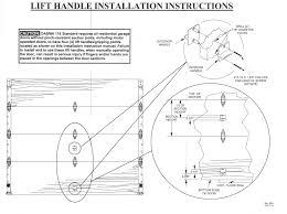 garage door lift handle4070180 White Lift Handle Step Plate  Raynor Garage Door