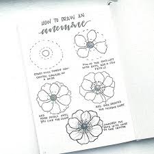 cool easy doodles to draw how to draw perfect flower doodles for bullet journal spreads of