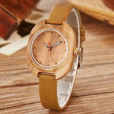 2018 new fashion simple women wood watch