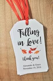 thank you tags for wedding favors bridal shower favor tags wedding favors falling in love favor tags