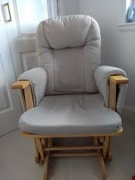 hauck glider nursing chair in neutral colours with removable covers perfect for any nurseryin dunblane