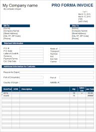 Proforma Invoice Template Word Proforma Invoice Download Chakrii