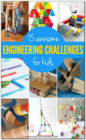 15 awesome engineering challenges for kids using a variety of materials most of which you