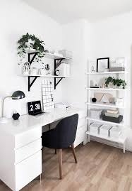 amy kim s black and white home office packs a ton of style into a small space bedroom workspacewhite desk