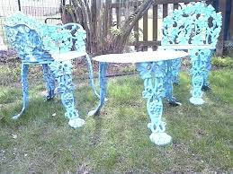 spray painted vintage cast iron furniture aqua outdoor seat cushions for wrought melbourne