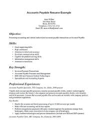 Sample Accounts Payable Resume Full Size Of Large Size Of Medium