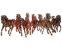 horse stampede metal wall hanging on metal horses wall art with unique metal wall decor sculptures of stallions horses