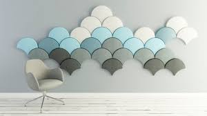 wall mounted acoustic panel felt colored for offices ginkgo