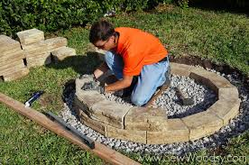 how to build outdoor fire pit via sewwoodsy com for homes