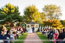 outdoor wedding ceremony at new jersey s battleground country club
